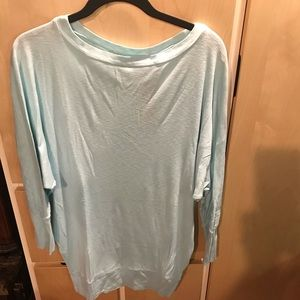 Michaels Stars Pale Blue Woman's Top Long Sleeve